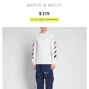 0f7d8c2e5ff1 Off-White Shirts - OFF-WHITE LONG SLEEVE DIAGONAL GRADIENT TEE MULTI